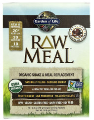 Garden of Life, Organic RAW Meal, Chocolate Cacao - 10 Packets