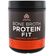 Dr. Axe / Ancient Nutrition, Bone Broth Protein Fit, Thermo Burner, 17.8 oz (506 g)