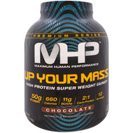 Maximum Human Performance, Up Your Mass, High Protein Super  Weight Gainer, Chocolate, 4.71 lbs (2,136 g)