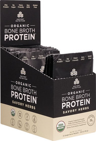 Ancient Nutrition Organic Bone Broth Protein Savory Herbs - 12 Packets