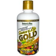Natures Plus, Source of Life, Gold Liquid, Delicious Tropical Fruit Flavor, 30 fl oz (887.10 ml)