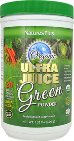 Natures Plus, Organic Ultra Juice Green Powder, 1.32 lbs (600 g)