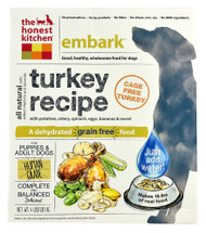 The Honest Kitchen Embark Dehydrated Dog Food for Puppies & Adult Dogs Turkey - 4 lbs