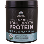 Dr. Axe / Ancient Nutrition, Organic Bone Broth Protein, French Vanilla, 17.5 oz (495 g)