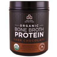 Dr. Axe / Ancient Nutrition, Organic Bone Broth Protein, Dark Chocolate, 17.8 oz (504 g)