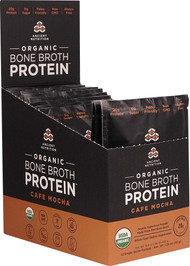 Ancient Nutrition Organic Bone Broth Protein Cafe Mocha - 12 Packets