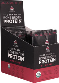Ancient Nutrition Organic Bone Broth Protein Nitro Beet - 12 Packets