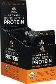 Ancient Nutrition Organic Bone Broth Protein Peanut Butter - 12 Packets