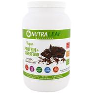 NutraLeaf Nutrition, Vegan Protein + Superfood, Natural Dark Chocolate, 35.4 oz (1005 g)
