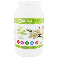 NutraLeaf Nutrition, Vegan Protein + Superfood, Natural French Vanilla, 35.4 oz (1005 g)