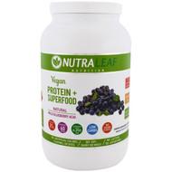 NutraLeaf Nutrition, Vegan Protein + Superfood, Natural Wild Blueberry Acai, 37.4 oz (1,050 g)