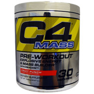 Cellucor, C4 Mass, Pre-Workout Explosive Energy & Mass Builder, Fruit Punch, 35.97 oz (1020 g)