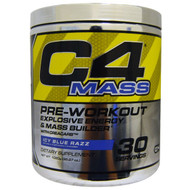 Cellucor, C4 Mass, Pre-Workout Explosive Energy & Mass Builder, Icy Blue Razz, 1020 g (35.97 oz)