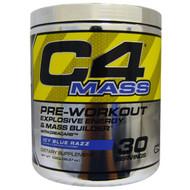 Cellucor, C4 Mass, Pre-Workout Explosive Energy & Mass Builder, Icy Blue Razz, 1020 g (35.97 oz)