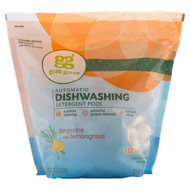 GrabGreen, Automatic Dishwashing Detergent Pods, Tangerine with Lemongrass, 132 Loads, 5 lbs, 4 oz (2376 g)