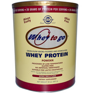Solgar, Whey To Go, Whey Protein Powder, Natural Vanilla Flavor, 32 oz (907 g)