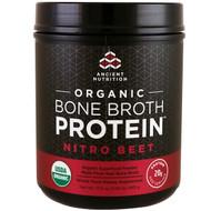 Dr. Axe / Ancient Nutrition, Organic Bone Broth Protein, Nitro Beet, 17.3 oz (490 g)