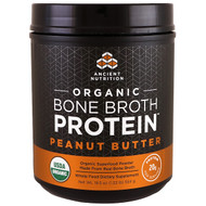 Dr. Axe / Ancient Nutrition, Organic Bone Broth Protein, Peanut Butter, 19.5 oz (554 g)