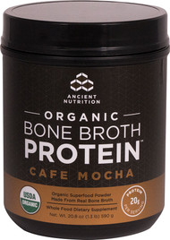 Ancient Nutrition Organic Bone Broth Protein Cafe Mocha - 17 Servings