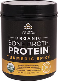 Ancient Nutrition Organic Bone Broth Protein Turmeric Spice - 17 Servings