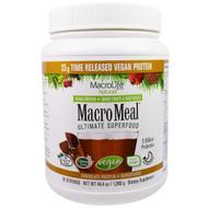 Macrolife Naturals, MacroMeal, Vegan, Chocolate Protein + Superfoods, 44.4 oz (1,260 g)