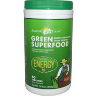 Amazing Grass, Green Superfood, Energy Lemon Lime Drink Powder, 14.8 oz (420 g)