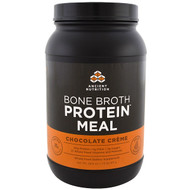 Dr. Axe / Ancient Nutrition, Bone Broth Protein Meal, Chocolate Creme, 28.6 oz (811 g)