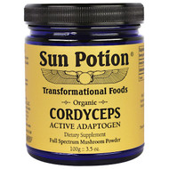 Sun Potion, Cordyceps Raw Mushroom Powder, Organic, 3.5 oz (100 g)