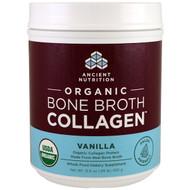 Dr. Axe / Ancient Nutrition, Organic Bone Broth Collagen, Vanilla, 15.9 oz (450 g)