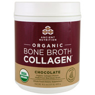 Dr. Axe / Ancient Nutrition, Organic Bone Broth Collagen, Chocolate, 16.2 oz (460 g)
