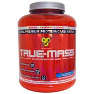 BSN, True Mass, Ultra Premium Protein/Carb Matrix, Vanilla Ice Cream, 5.82 lbs (2.64