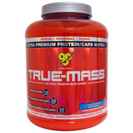 BSN, True Mass, Ultra Premium Protein/Carb Matrix, Vanilla Ice Cream, 5.82 lbs (2.64 kg)