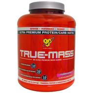 BSN, True-Mass, Ultra Premium Protein/Carb Matrix, Strawberry Milk Shake, 5.82 lbs (2.64 kg)