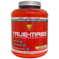 BSN, True-Mass, Powdered Protein & Carbohydrate Drink Mix, Cookies & Cream, 5.82 lbs (2.64