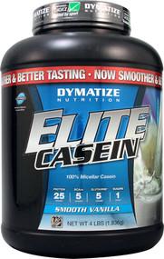 Dymatize Nutrition, Elite Casein, Smooth Vanilla, 4 lb (1.8