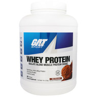 GAT, Whey Protein, Isolate Blend Muscle Protein Shake, Essentials, Rich Chocolate, 5 lbs (2268 g)