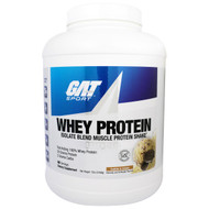 GAT, Whey Protein Isolate Blend Muscle Protein Shake, Cookies & Cream, 5 lbs (2268 g)