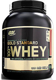 Optimum Nutrition Gold Standard 100% Whey Protein Strawberry -- 4.8 lbs