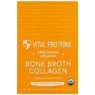 Vital Proteins, Free Range Organic, Bone Broth Collagen, Unflavored Chicken, 20 Packets, 0.35 oz (10 g) Each
