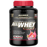 ALLMAX Nutrition, AllWhey Gold, 100% Whey Protein + Premium Whey Protein Isolate, Strawberry, 5 lbs. (2.27