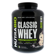 NutraBio Labs, Classic Whey Protein, Cookies & Cream, 5 lbs (2268 g)