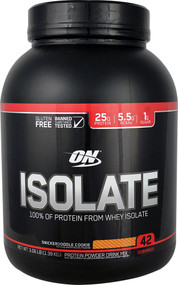 Optimum Nutrition Isolate 100% Whey Protein Isolate Snickerdoodle - 3.06 lbs