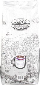 Jims Organic Coffee, Dark Roast Whole Bean,  Espresso - 4 lbs