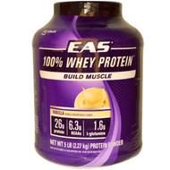 EAS, 100% Whey Protein, Vanilla, 5 lbs (2.27 kg) Powder