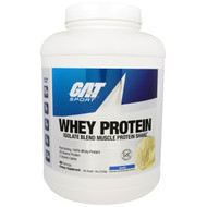 GAT, Whey Protein, Isolate Blend Muscle Protein Shake, Vanilla, 5 lbs (2268 g)