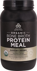 Ancient Nutrition Organic Bone Broth Protein MEAL Savory Herbs - 15 Servings