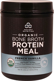 Ancient Nutrition Organic Bone Broth Protein MEAL French Vanilla - 15 Servings