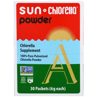 Sun Chlorella, Sun Chlorella A Powder, 30 Packets, 6 g Each