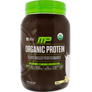 MusclePharm Natural, Organic Protein, Plant-Based, Vanilla, 2.5 lbs (1.13
