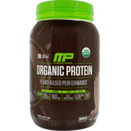 MusclePharm Natural, Organic Protein, Plant-Based, Chocolate, 2.7 lbs (1.22